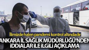 Ankara İl Sağlık Müdürlüğü'nden hastane yatak doluluk oranı ile yoğun bakım kapasitesi açıklaması
