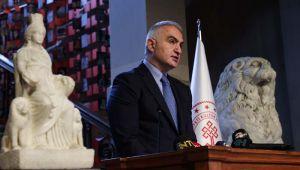 Bakan Ersoy '' Kybele ''heykelinin tanıtımını yaptı.
