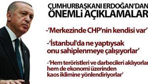 Cumhurbaşkanı Erdoğan muhalefete çok sert eleştiriler