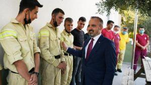 AK Parti Grup Başkanvekili Turan'dan ormanın kahramanlarına moral ziyareti