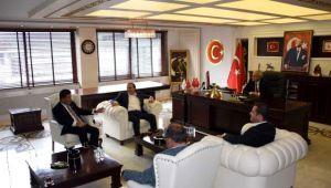 Genel Başkan yardımcılarından Başkan Bakkalcıoğlu'na ziyaret