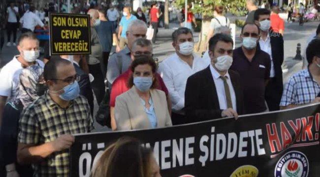 KIRKLARELİ - Öğrenci velisinin okul müdürünü darbetmesi protesto edildi